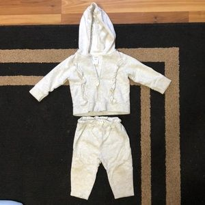 Infant girls hooded jacket with matching pants